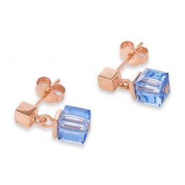Coeur de Lion 4996/21-0700 Drop Earrings Monochrome Stainless Steel rose gold blue