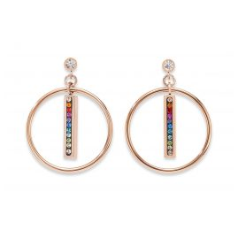 Coeur de Lion 5001/21-1500 Drop Earrings Multicolour Stainless Steel rose gold