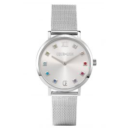 Coeur de Lion 7610/70-1717 Women's Wristwatch Silver/Multi-Coloured