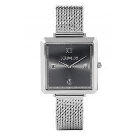 Coeur de Lion 7620/70-1724 Ladies Watch with Mesh Strap Silver Tone/Grey