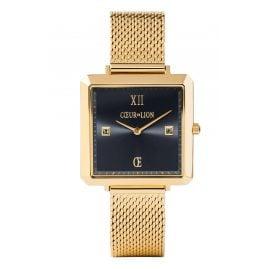 Coeur de Lion 7622/70-1641 Damen-Armbanduhr mit Milanaiseband Goldfarben/Nachtblau