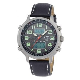 ETT Eco Tech Time EGS-11301-22L Solar Drive RC Mens Watch Hunter II