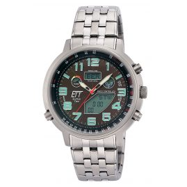 ETT Eco Tech Time EGS-11374-50M Funk-Solar Herrenuhr Multifunktion Hunter II