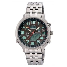 ETT Eco Tech Time EGS-11374-50M Radio-Controlled Solar Men's Watch Hunter II