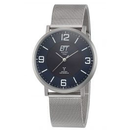 ETT Eco Tech Time EGS-11408-80M Radio-Controlled Solar Men's Watch Atacama Steel