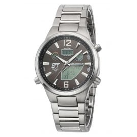 ETT Eco Tech Time EGT-11380-20M Men's Radio-Controlled Solar Watch Everest II Titanium