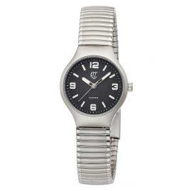 ETT Eco Tech Time ELS-12089-21M Damen-Armbanduhr Sorona Solar mit Zugband Schwarz