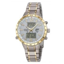 ETT Eco Tech Time EGT-11415-40M Men's Solar Radio-Controlled Watch Titanium