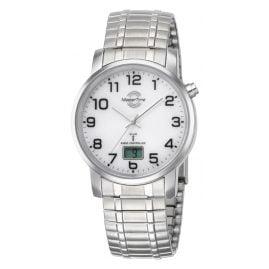 Master Time MTGA-10306-12M Herren-Funkuhr Basic mit Zugband