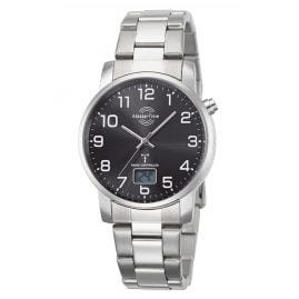 Master Time MTGA-10694-21M Herren-Funkuhr Basic mit Edelstahl-Armband