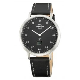 Master Time MTGS-10704-32L Funk Herrenuhr Advanced Architect Lederband Schwarz