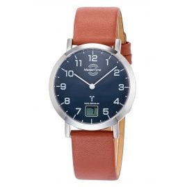 Master Time MTLS-10660-91L Damen-Funkuhr Advanced mit braunem Lederband