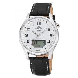 Master Time MTGA-10716-20L Herren-Funkuhr Specialist Big Date mit Lederband