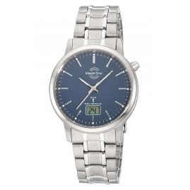 Master Time MTGT-10755-31M Radio-Controlled Men's Watch Titanium Blue