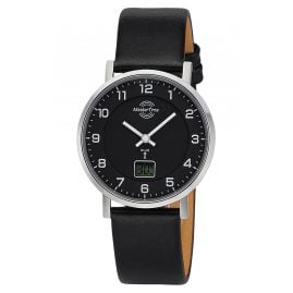 Master Time MTLS-10739-22L Women's Radio-Controlled Watch with Black Leather Strap