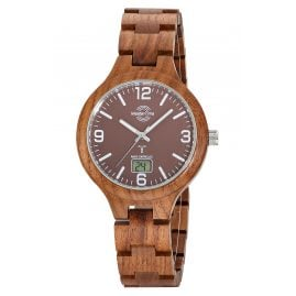 Master Time MTGW-10749-81W Men's Watch Radio-Controlled Specialist Wooden Bracelet