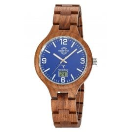 Master Time MTGW-10747-31W Men's Radio-Controlled Watch Specialist Wooden Bracelet