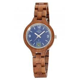 Master Time MTLW-10748-31W Damen-Holzuhr Funk Specialist