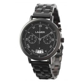 Laimer 0079 Wood Watch Mens Chronograph Lucio