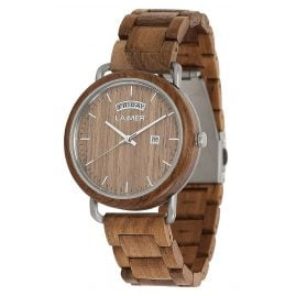 Laimer 0112 Men's Wooden Watch Finn
