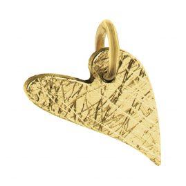 Ernstes Design AN491 Herz-Anhänger Edelstahl vergoldet