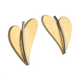 Ernstes Design E245 Damen-Ohrringe Herz