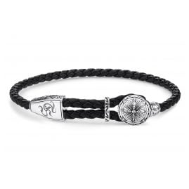 Thomas Sabo A1860-682-11-L25v Leather Bracelet in Unisex Size Compass