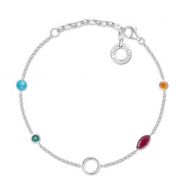 Thomas Sabo X0274-965-7-L19v Ladies´ Bracelet for Charms Colourful Stones