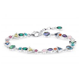 Thomas Sabo A1846-985-7-L19v Ladies´ Bracelet Colourful Stones