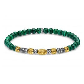 Thomas Sabo A1920-140-6 Bead Bracelet Lucky Charm Two-Tone Green