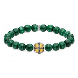 Thomas Sabo A1930-555-6 Unisex Bracelet Cross Green