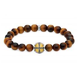 Thomas Sabo A1929-849-2-L18 Unisex Bead-Armband Kreuz goldfarben