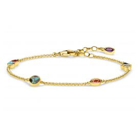 Thomas Sabo A1845-993-7-L19v Laies' Bracelet Colourful Stones