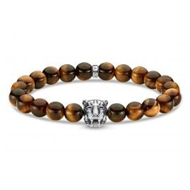 Thomas Sabo A1939-950-2 Unisex Bracelet Tiger with Tiger's Eye Beads