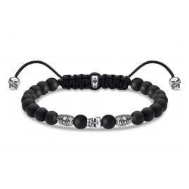 Thomas Sabo A1945-811-11-L22v Unisex Bracelet Death's Head Black