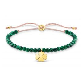 Thomas Sabo A1983-140-6-L20v Bracelet Green with Cloverleaf