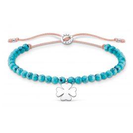 Thomas Sabo A1983-905-17-L20v Bracelet Turquoise with Cloverleaf