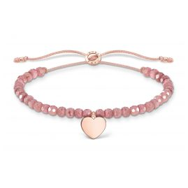 Thomas Sabo A1985-893-9-L20v Ladies´ Bracelet Pink with Heart