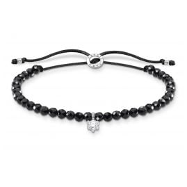 Thomas Sabo A1987-401-11-L20v Bracelet for Ladies Black with white Stone
