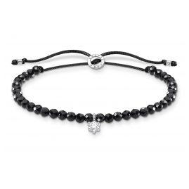 Thomas Sabo A1987-401-11-L20v Armband für Damen Schwarz mit weißem Stein