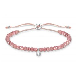 Thomas Sabo A1987-401-9-L20v Bracelet for Ladies Pink with white Stone