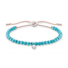 Thomas Sabo A1987-905-17-L20v Ladies´ Bracelet Turquoise with white Stone