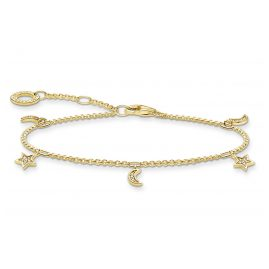 Thomas Sabo A1994-414-14-L19v Ladies´ Bracelet Moon and Stars gold tone