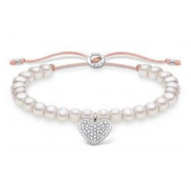 Thomas Sabo A1986-199-14-L20v Ladies´ Bracelet white Pearls with Heart