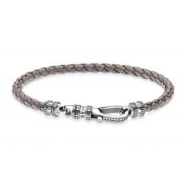 Thomas Sabo A2012-682-5 Armband in Unisexgröße Leder Grau