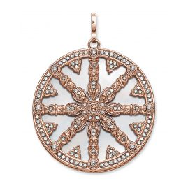 Thomas Sabo PE669-435-14 Pendant Karma Wheel with Mother-of-Pearl Disc Rose
