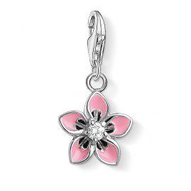 Thomas Sabo 1354-041-9 Charm Pendant Pink Flower