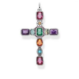 Thomas Sabo PE859-294-7 Pendant Cross Colourful Stones