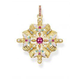 Thomas Sabo PE877-996-7 Pendant Amulet Kaleidoscope Butterfly gold tone