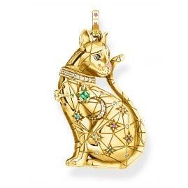 Thomas Sabo PE883-471-7 Pendant Cat Constellation gold tone